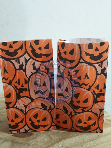bolsa de papel a lunares x 10un.