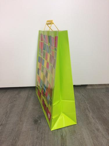 bolsa de papel de regalo diseño green 45x15x48 cm