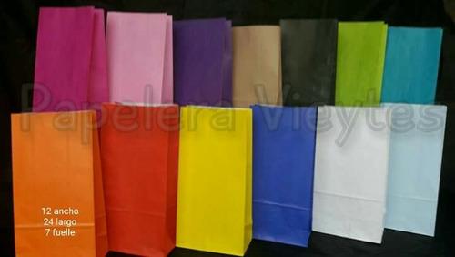 bolsa de papel lisas tipo sobre para souvenier  ( x 10 )