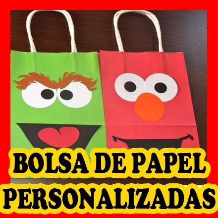 bolsa de papel personalizada para cotillones infantiles