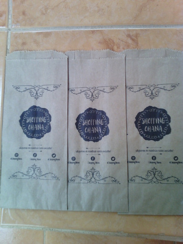 bolsa de papel personalizada (tamaño 9x22)