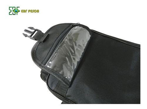 bolsa de pesca ebf combat g nylon preta - azul ou verde