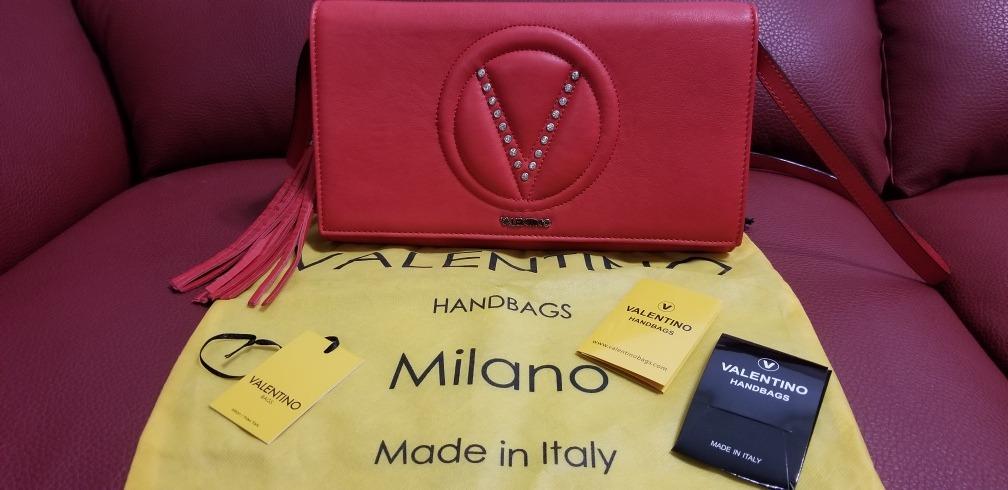 De Valentino Etiquetas Bolsa Piel Con RojaNueva FK1uJ3Tlc