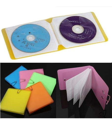 bolsa de plástico para cd, dvd, disco de doble funda, transp