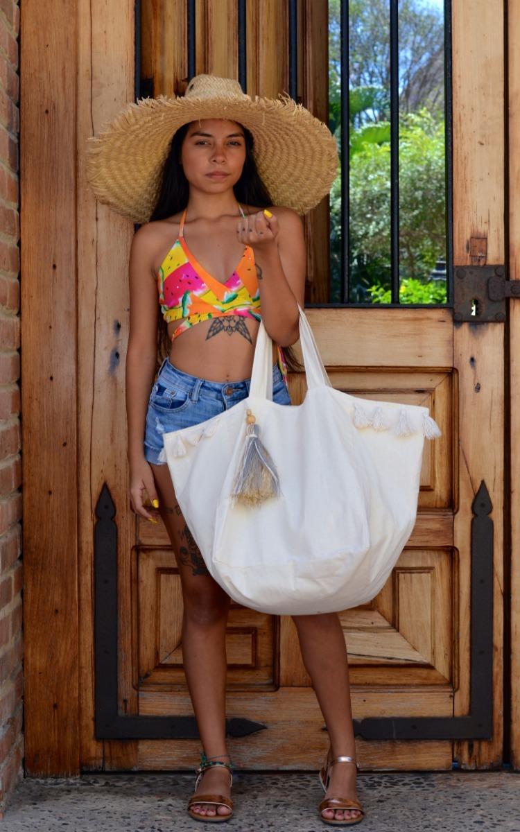 47257dfb4 Bolsa De Playa Artesanal - $ 300.00 en Mercado Libre