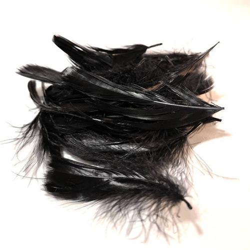 bolsa de plumas  negras para trajes folclor y accesorios