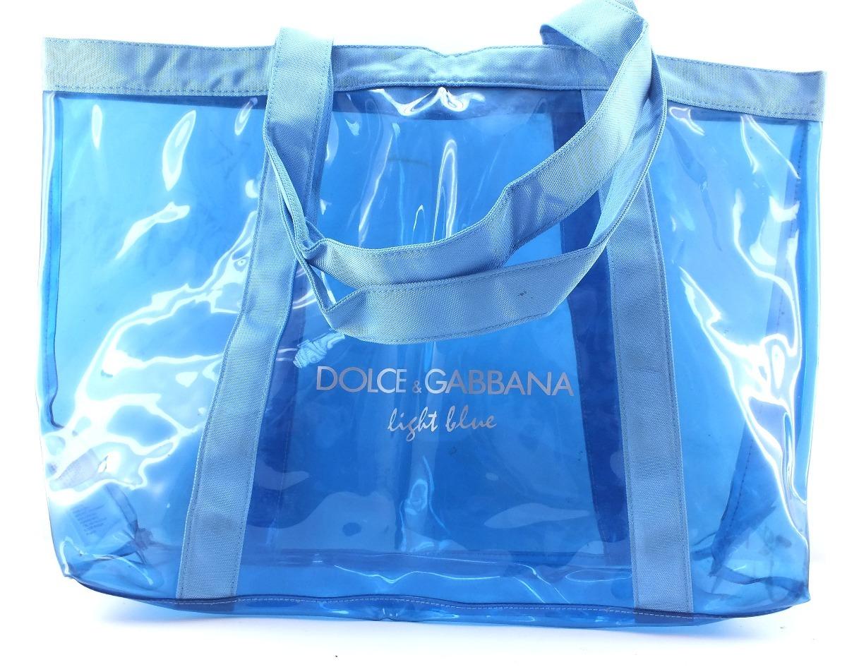0cb82bc7ac5 Bolsa De Praia Azul Transp Dolcci   Gabbana Light Blue B3152 - R ...