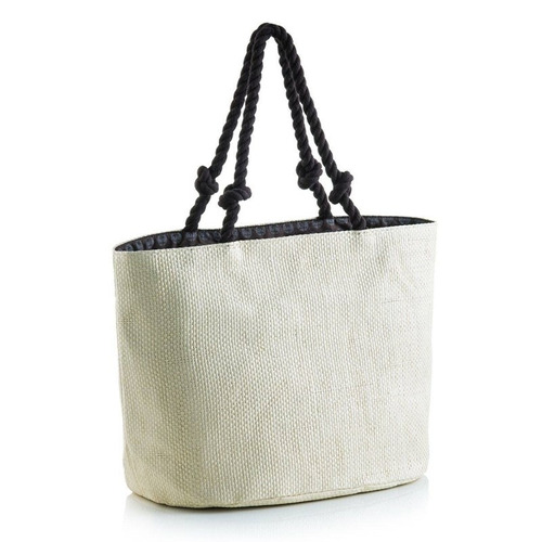 bolsa de praia em palha marfim manly