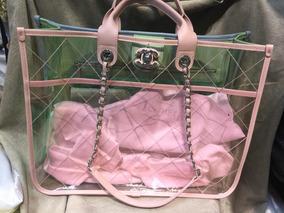 a05a48883 Bolsa Praia Chanel Original - Bolsas Chanel de Lona Femininas no ...