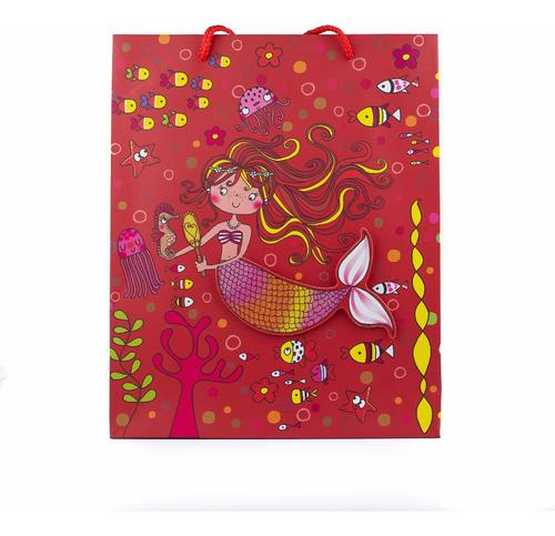 bolsa de regalo niñas 32x26x10 cm cod. n-5 (1/2 docena)