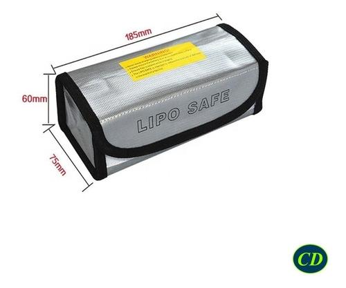 bolsa de seguridad para bateria lipo li-po, carga transporte