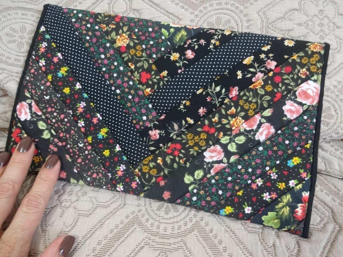 Bolsa De Tecido Artesanal Passo A Passo : Bolsa de tecido patchwork artesanal nova r em