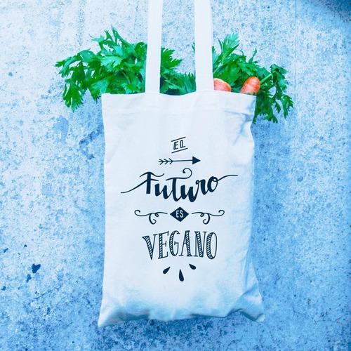 bolsa de tela  el futuro es vegano