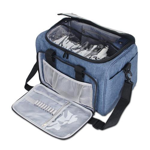 bolsa de trabajo de tejer de teamoy, bolsa de almacenamie