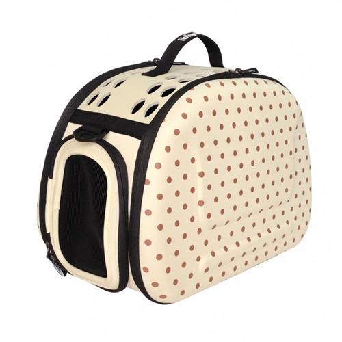 bolsa de transporte ibiyaya eva shoulder para cães - bege