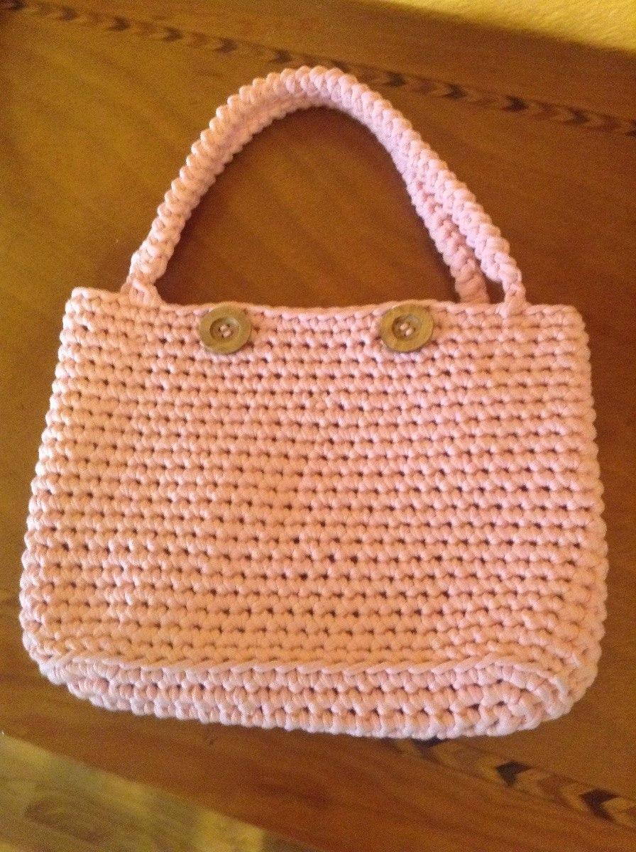 Bolsa De Trapillo Tejida A Crochet - $ 520.00 en Mercado Libre