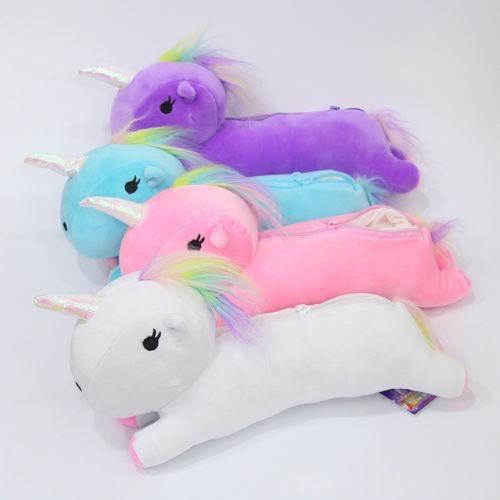 bolsa de unicornio cosmetiquera lapicera kawaii con regalo