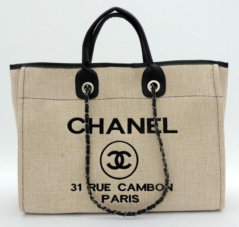 b3818bb6c6d30 Bolsa Deauville Tote Feminina Lona Importada Creme - R  139,00 em ...