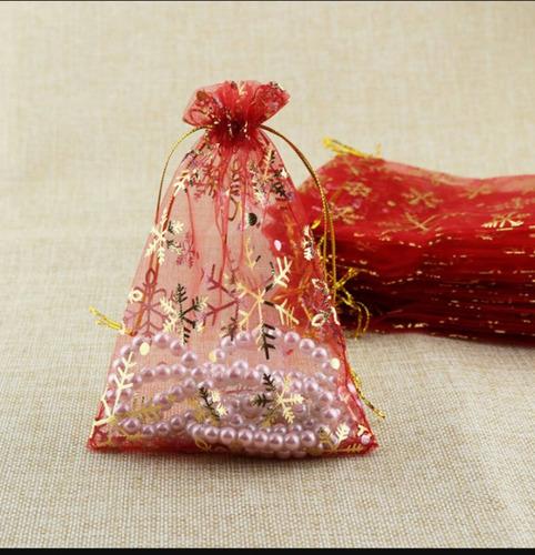 bolsa decorativa en organza 15x20