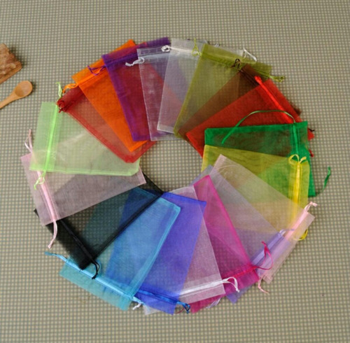 bolsa decorativa en organza 15x25