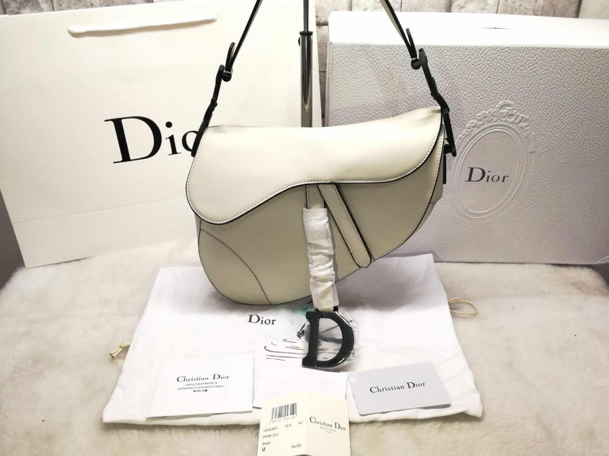 4659ba049d7 bolsa dior saddle branca - couro original - importada. Carregando zoom.