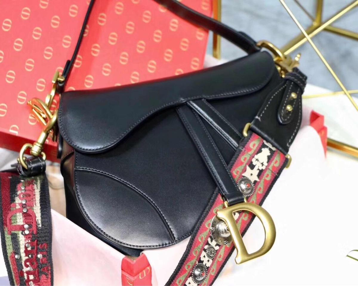 3784b3470 Bolsa Dior Saddle Preto Com 2 Alças Original - R$ 2.999,00 em ...