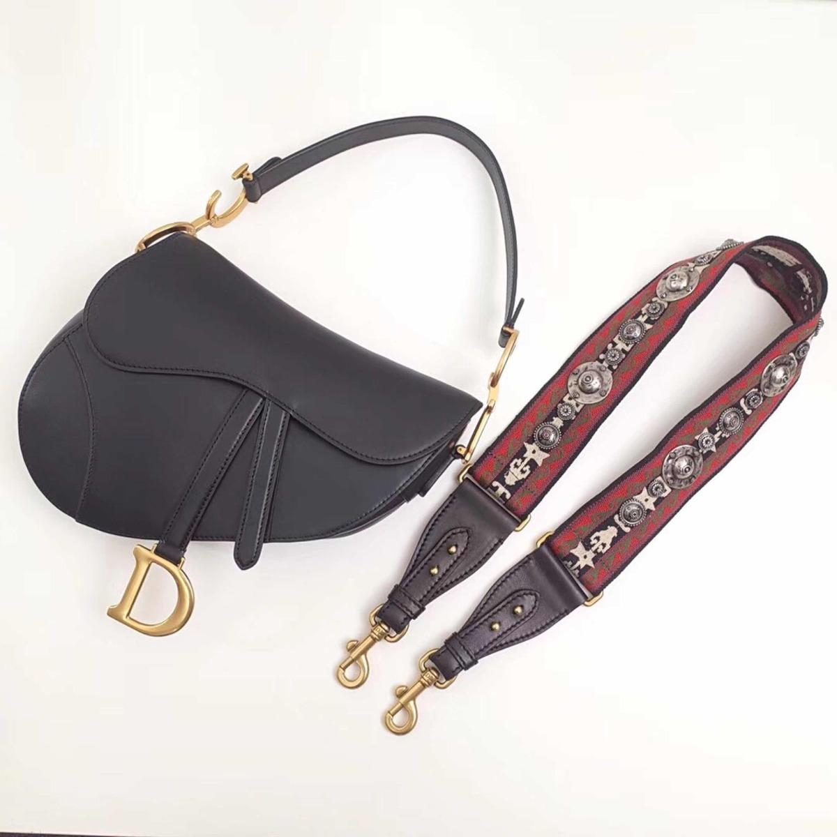 699b57ec145 Bolsa Dior Saddle Preto Com 2 Alças Pronta Entrega Orig Novo - R ...