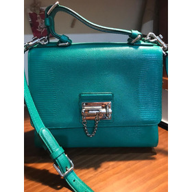 Bolsa Dolce & Gabbana Blue Monica Small Leather Shoulder Bag