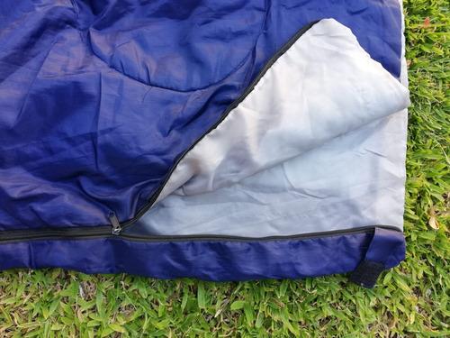 bolsa dormir +  aislante camping scout excursiones azul
