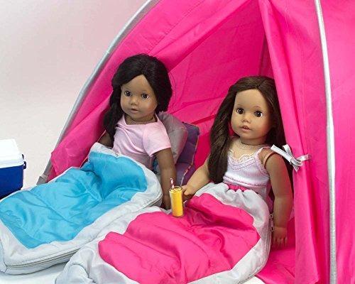 bolsa dormir muñecas 18 pulgadas sophia agua azul plateado m