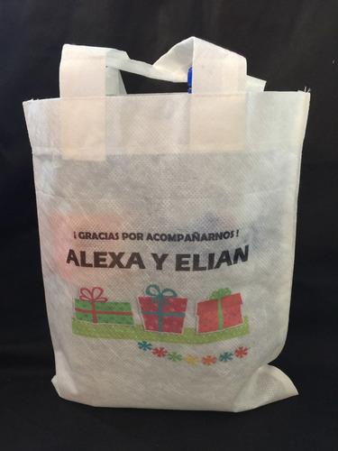 bolsa dulcera para aguinaldo fiesta sublimada 30 pzas