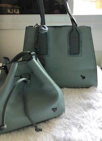 521d8f4e7 Bolsa Couro Sintético Verde Muito Grande. Usado · Bolsa Dupla - Verde Água