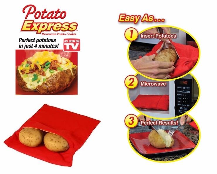 Bolsa eco amigable para cocinar papas en 4 minutos 3 for Cocinar en 30 minutos