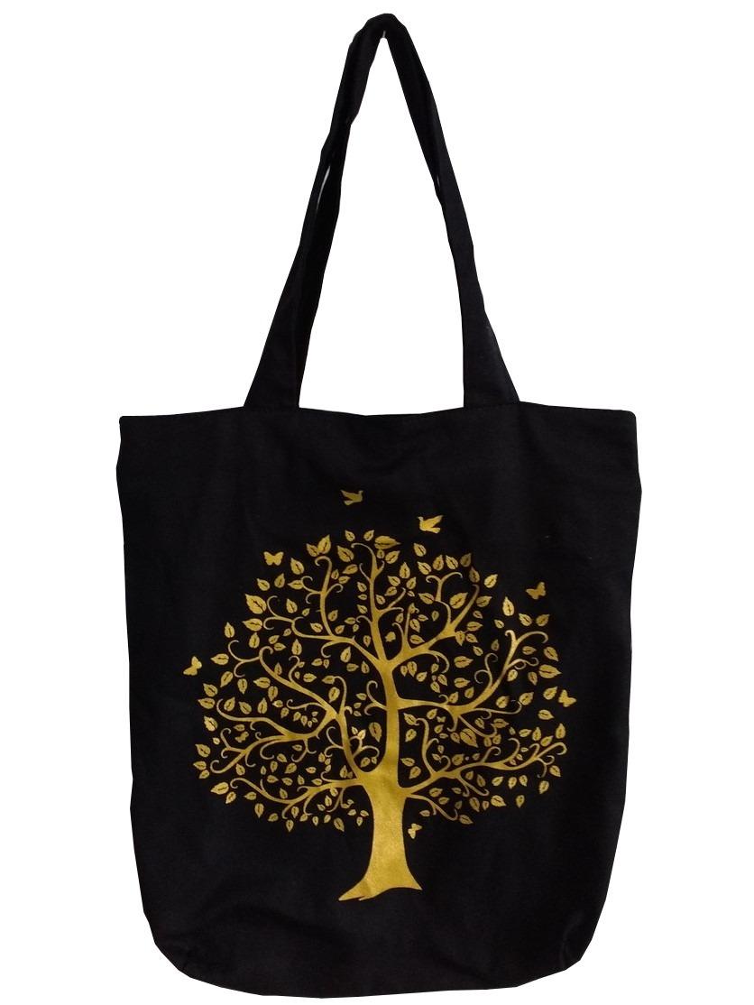 43151c223 Bolsa Ecobag - Alça De Pano - Preta - Árvore Da Vida - R$ 25,00 em Mercado  Livre