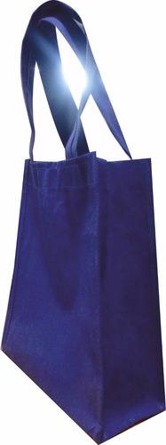 bolsa ecológica azul rey crambel 40x35 cm con fuelle 10 cm