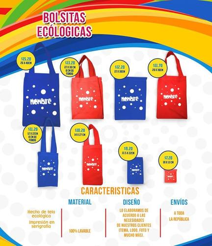 bolsa ecologica personliazada dulcero fiesta piñata