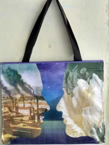 bolsa ecológica tipo lona con varios diseños. 10 pzs.