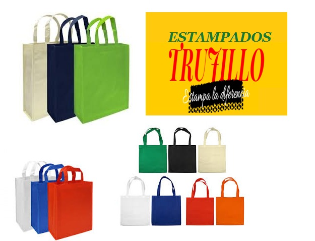 4dcda414c Bolsa Ecológica Tnt 30*40*10 Personalizadas - $ 1.000 en Mercado Libre