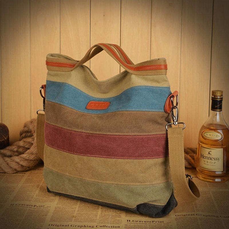 5e970d684 Bolsa Em Canvas + Couro Importada - R$ 129,90 em Mercado Livre