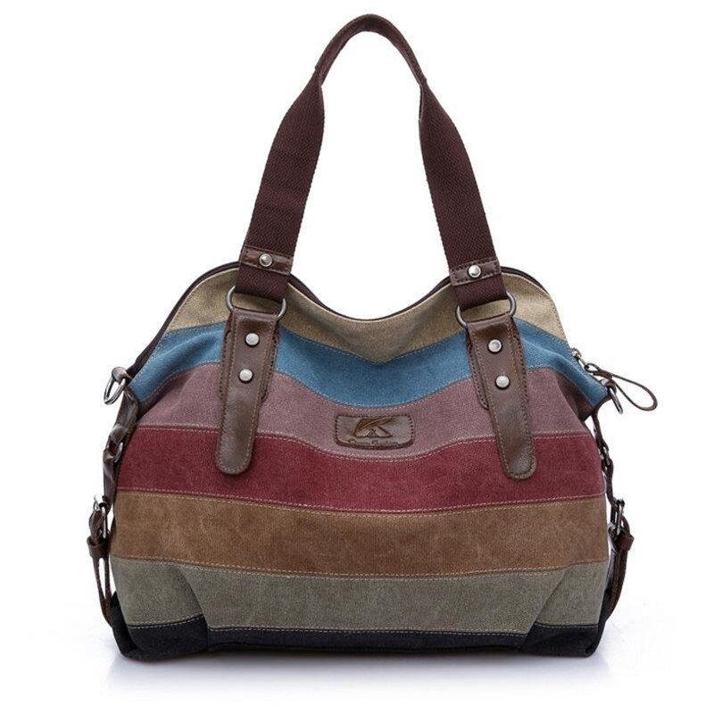01b38347d Bolsa Em Canvas + Couro Importada Com Pequeno Defeito - R$ 119,90 em ...