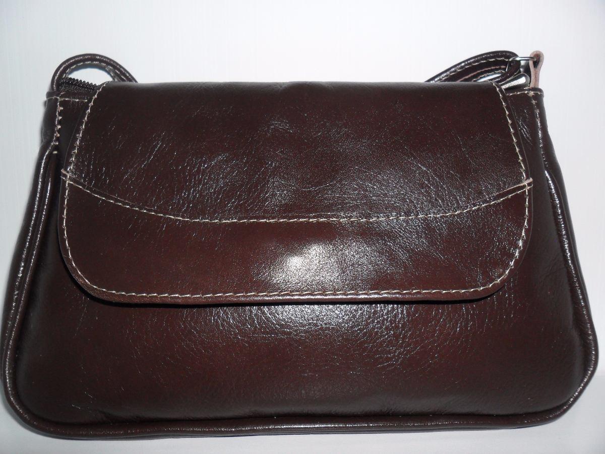 62ac2cd4b bolsa em couro legítimo fino acabamento feminina marrom esc. Carregando zoom .