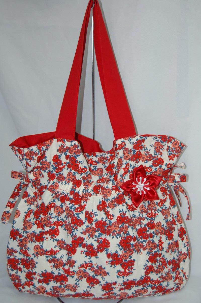 Bolsa Em Tecido Para Praia : Bolsa em tecido moda praia floral r mercado livre