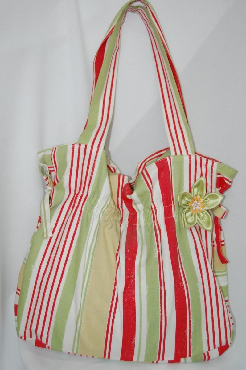 Bolsa Em Tecido Para Praia : Bolsa em tecido moda praia listrada r