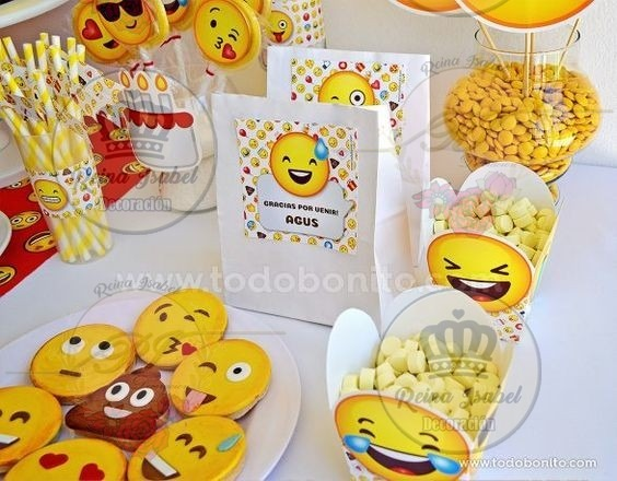 Baby Bolsa Emoticon Candy Cumple Bar Shower Cumpleaños XkZiuOP