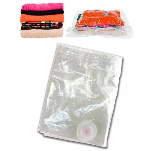 bolsa empaque al vacio reduce hasta 75% espacio 60 x 80 cm