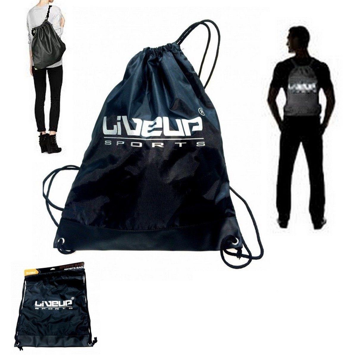 47811758d Bolsa Esportiva Preta Liveup Gym Sack Acessórios Esportivos - R  29 ...