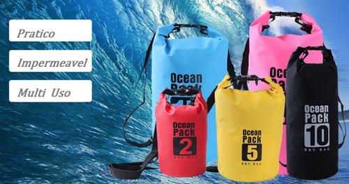 bolsa estanque 10l saco impermeável camping praia