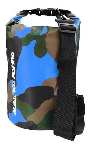 bolsa estanque albatroz ecobag 15lt pvc  camuflado azul