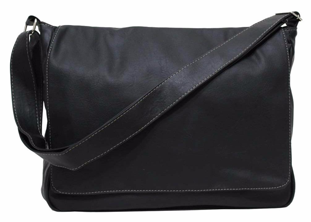 Bolsa De Couro Masculina Mercado Livre : Bolsa estilo carteiro masculina couro sint?tico preto r