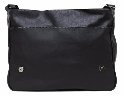Bolsa Estilo Carteiro Feminina Mercado Livre : Bolsa estilo carteiro masculina couro sint?tico preto r